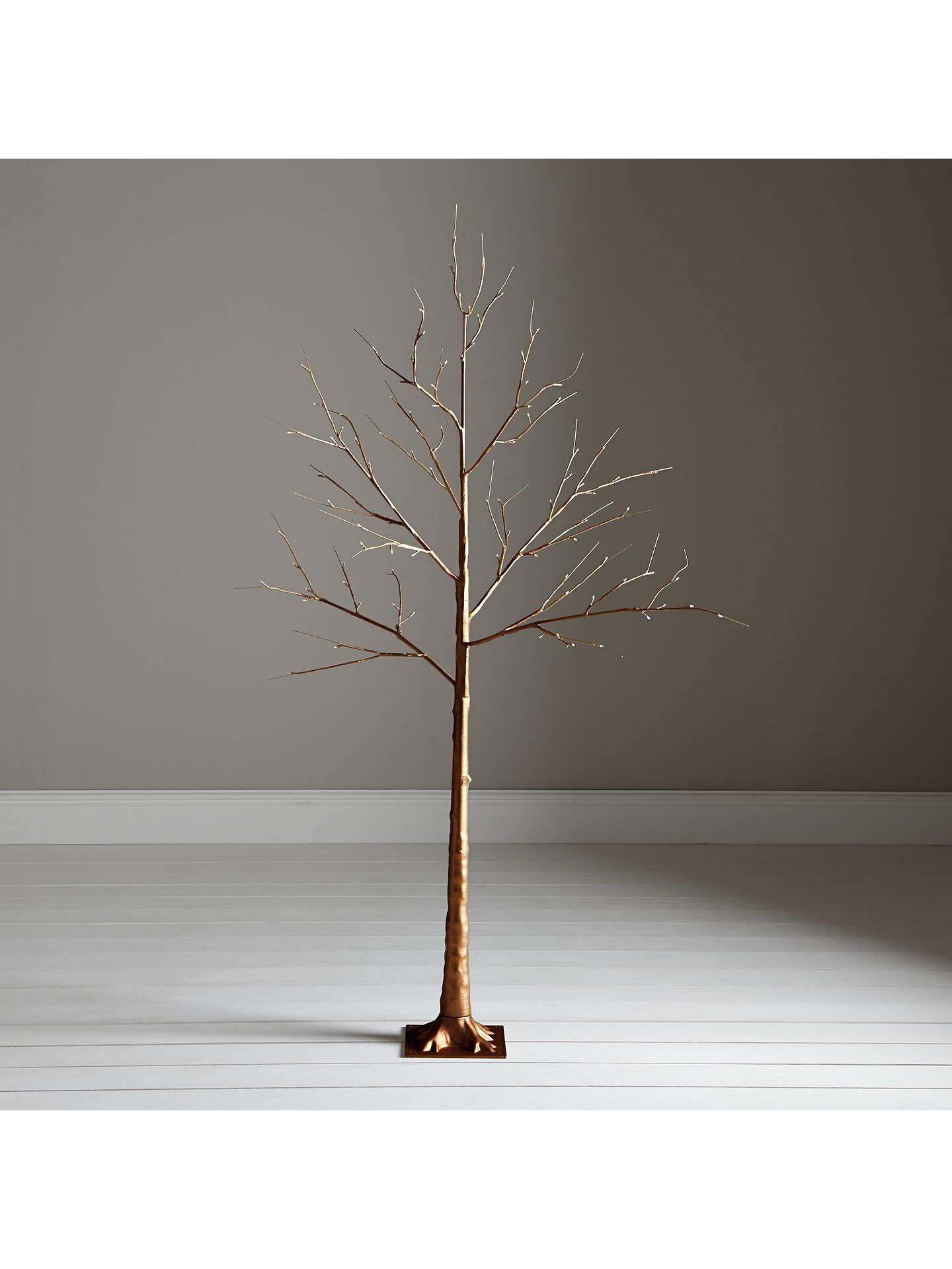 John Lewis Pre-Lit Copper Twig Tree, 6ft at John Lewis & Partners