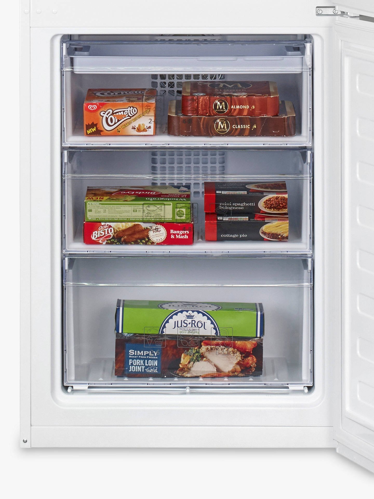 Buy Beko CFP1675W Fridge Freezer, A+ Energy Rating, 60cm Wide, White Online at johnlewis.com