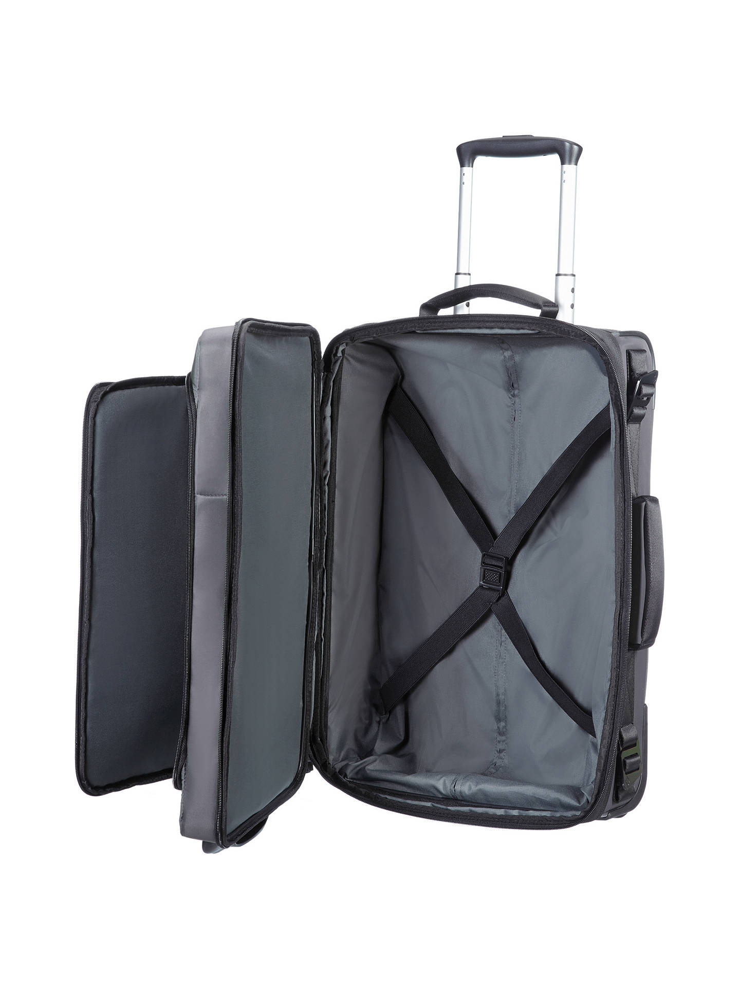 BuySamsonite City Vibe 2-Wheel 55cm Laptop Cabin Suitcase, Grey Online at johnlewis.com