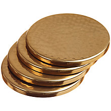 Buy Just Slate Hammered Metal Coasters, Set of 4 Online at johnlewis.com