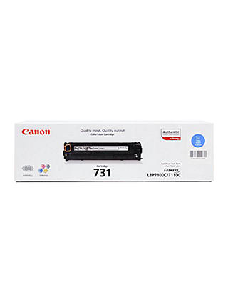 Buy Canon CRG-731C Colour Toner Cartridge, Cyan Online at johnlewis.com