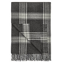 Buy John Lewis Croft Collection Alpaca Check Throw, Grey Online at johnlewis.com