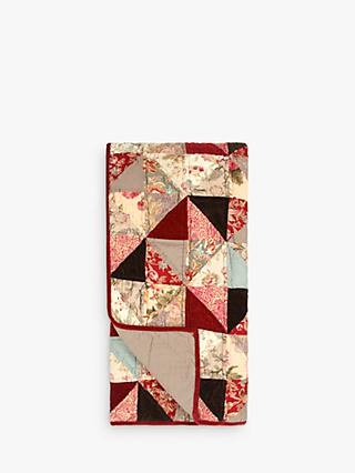 John Lewis & Partners Patchwork Bedspread, Ruby