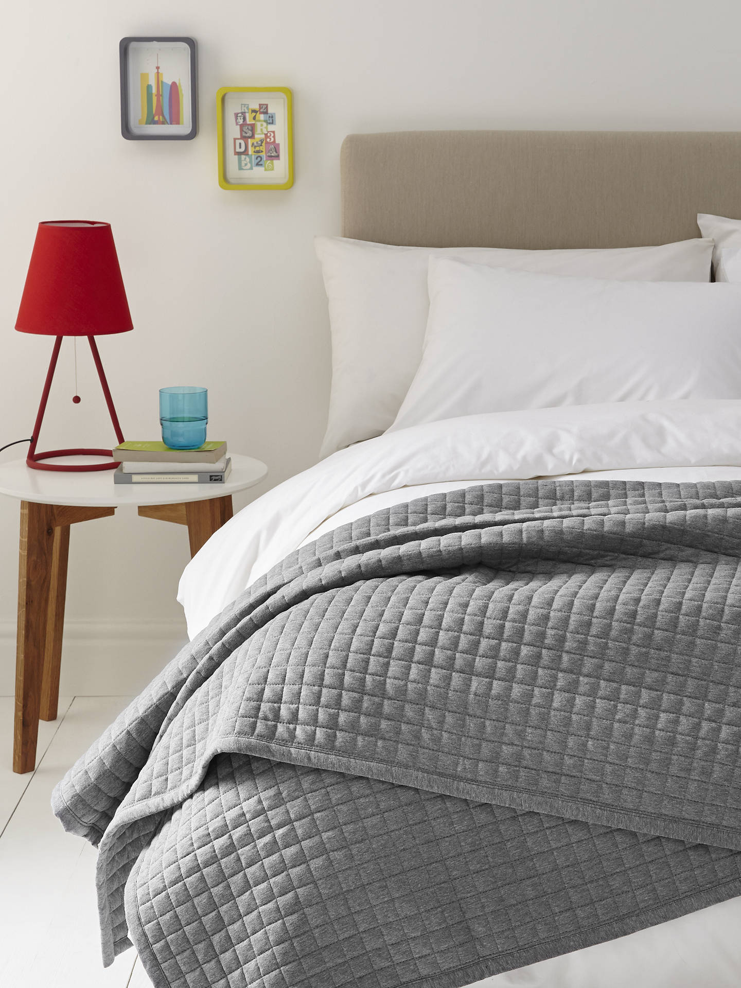 BuyHouse by John Lewis Jersey Bedspread, Steel Online at johnlewis.com