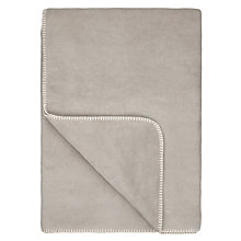 Buy John Lewis Contrast Stitch Fleece Blanket Online at johnlewis.com
