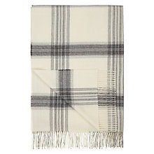 Buy John Lewis Croft Collection Alpaca Check Throw, Cream Online at johnlewis.com