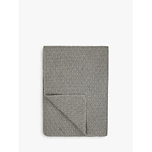 Buy John Lewis Geo Bedspread, Steel Online at johnlewis.com