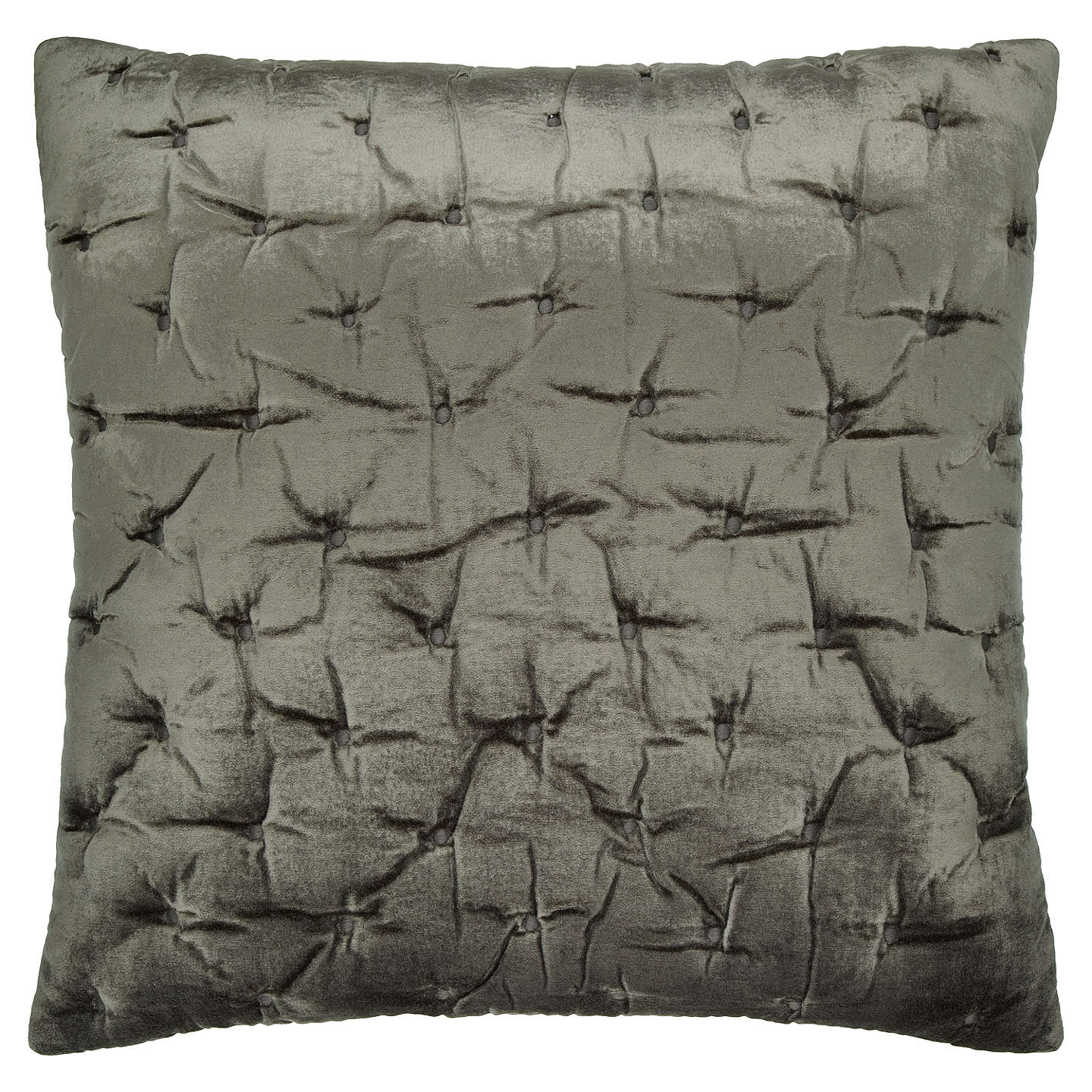 BuyJohn Lewis Velvet Stitch Cushion Cover, Steel Online at johnlewis.com