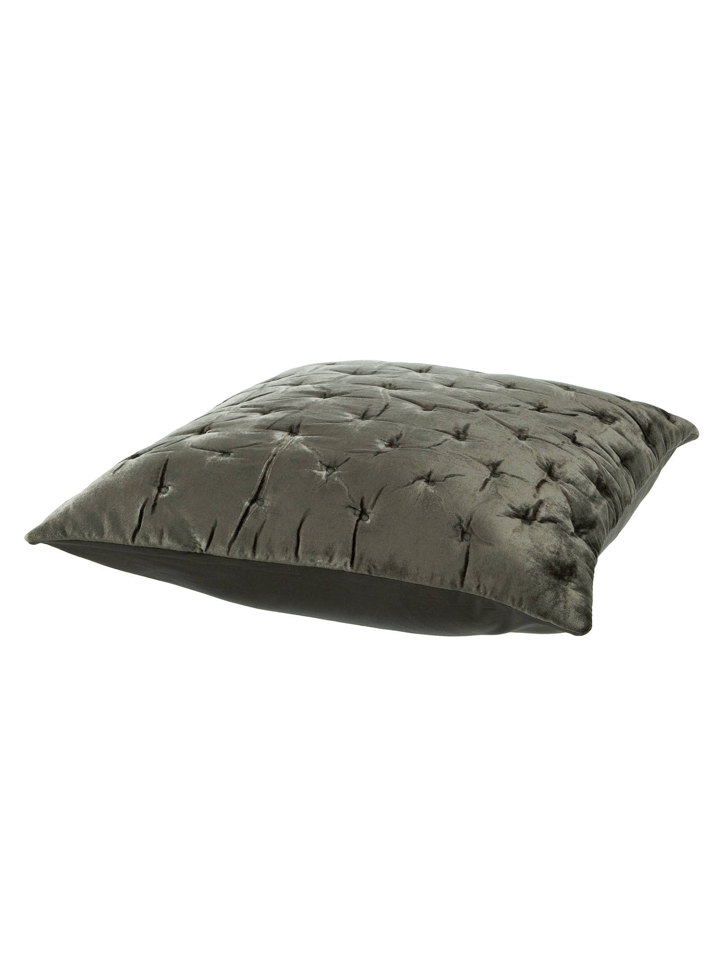 BuyJohn Lewis & Partners Velvet Stitch Cushion Cover, Steel Online at johnlewis.com