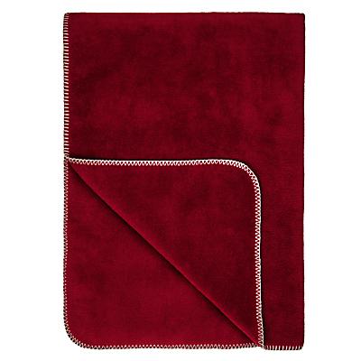 John Lewis Contrast Stitch Fleece Blanket