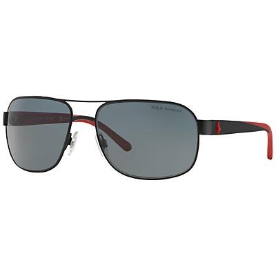 Image of Polo Ralph Lauren PH3093 Men's Square Framed Polarised Sunglasses