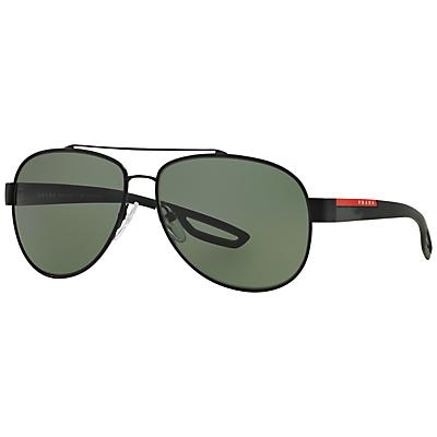 Product photo of Prada linea rossa ps55qs aviator polarised sunglasses black