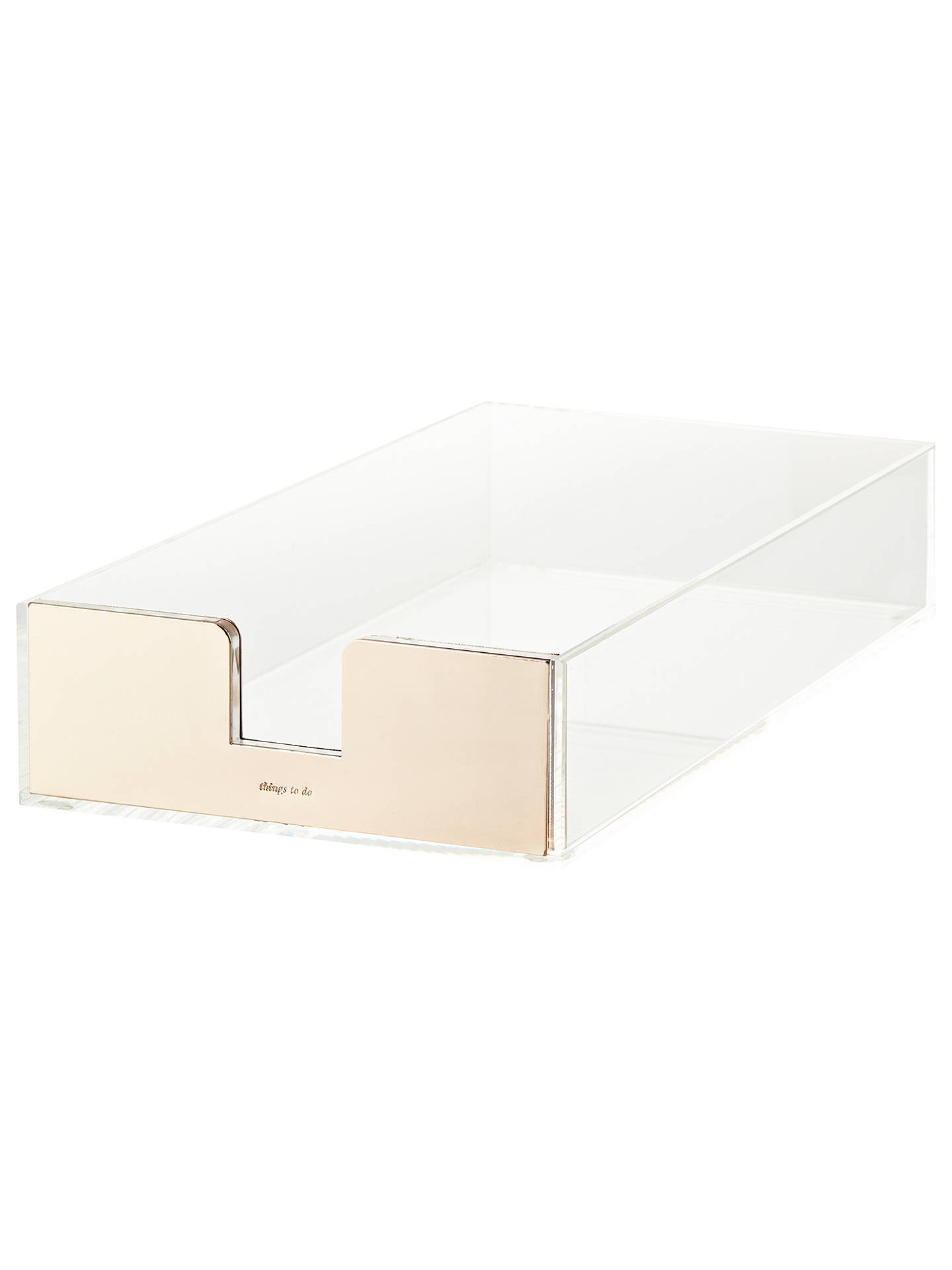 Buy kate spade new york Acrylic Letter Tray, Gold Online at johnlewis.com