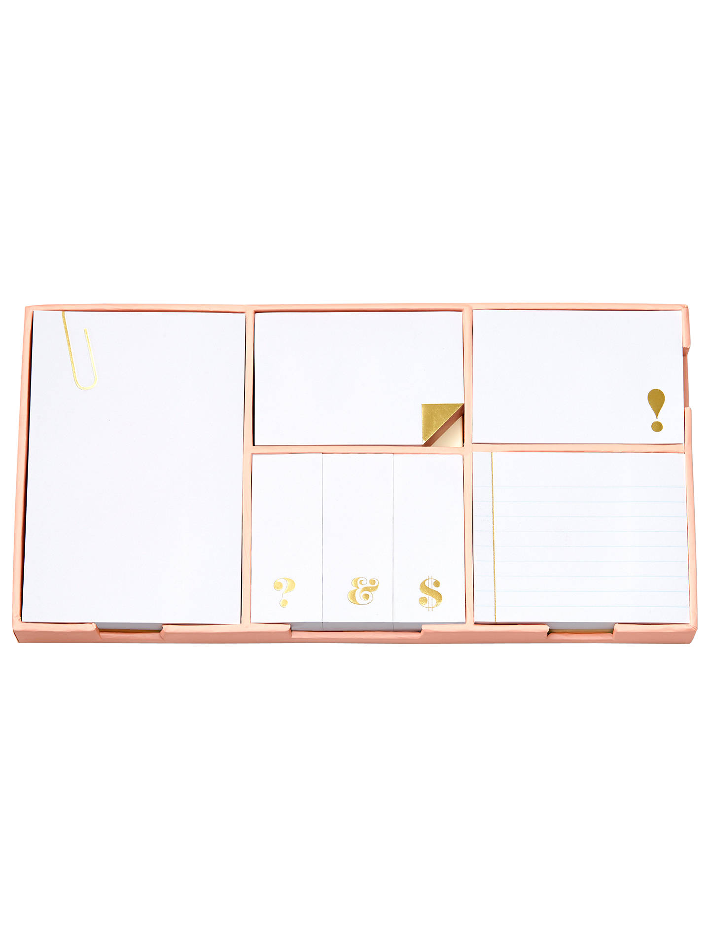 Buykate spade new york Sticky Note Set, Gold Online at johnlewis.com