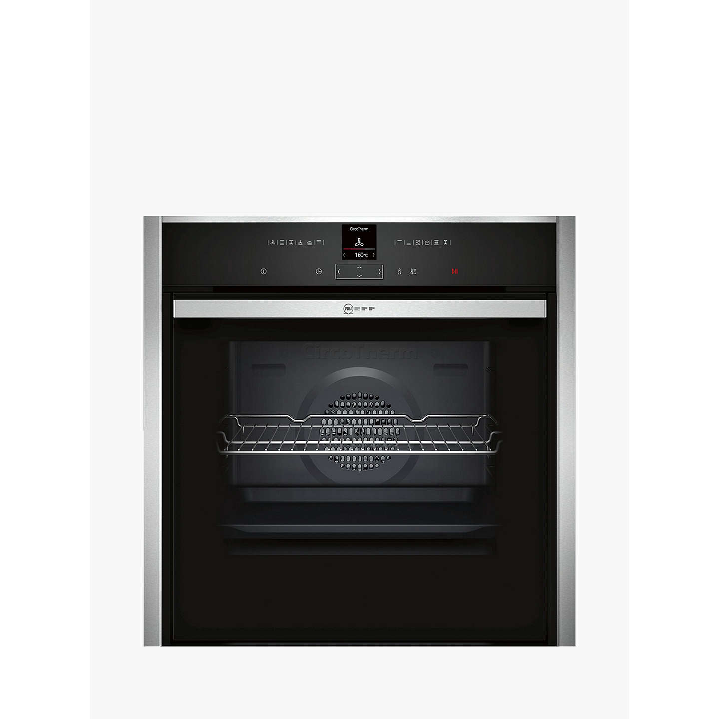 Neff B57 Cr22 N0 B Pyrolytic Slide And Hide Single Electric Oven, Stainless Steel by Neff
