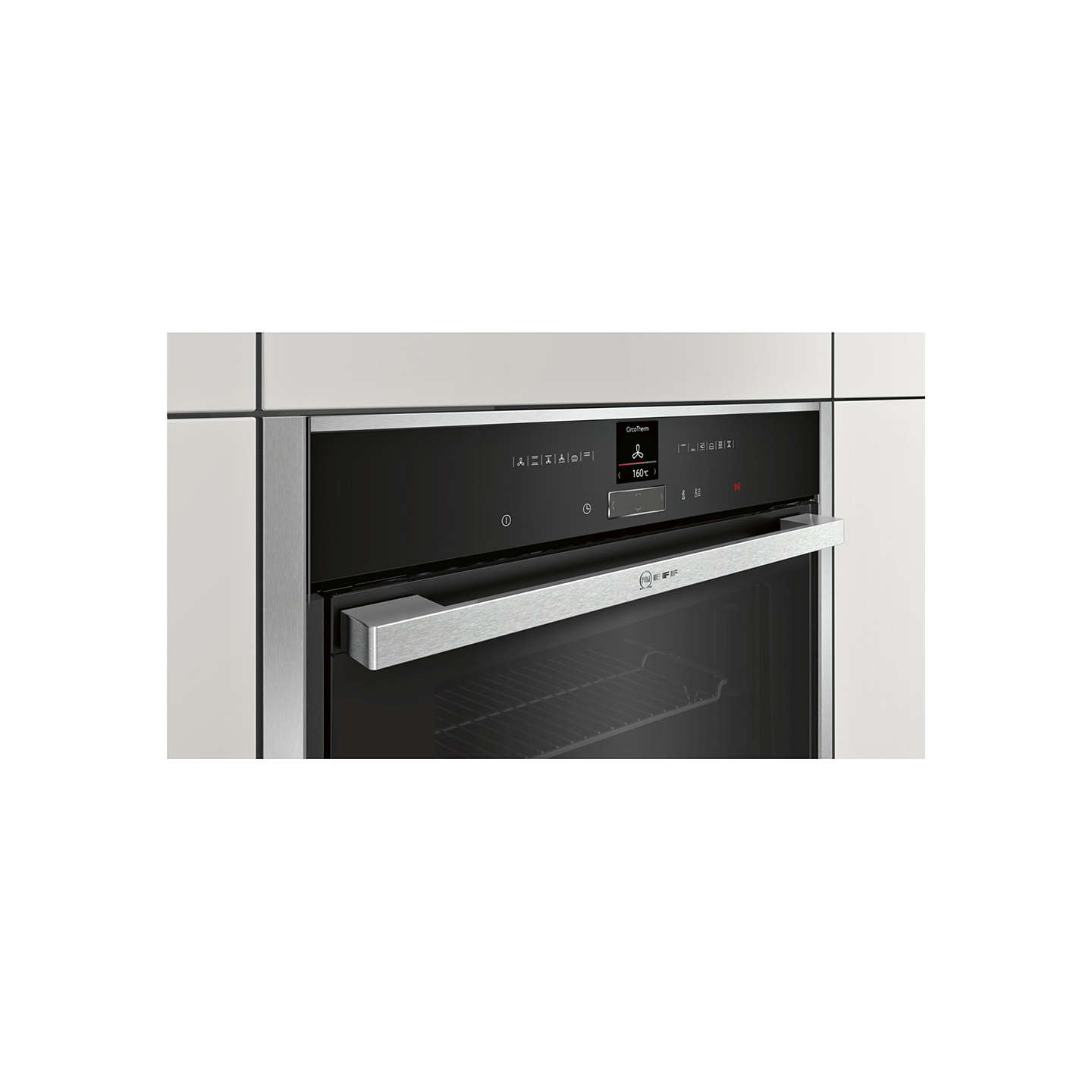 BuyNeff B57CR22N0B Pyrolytic Slide And Hide Single Electric Oven, Stainless  Steel Online At Johnlewis.