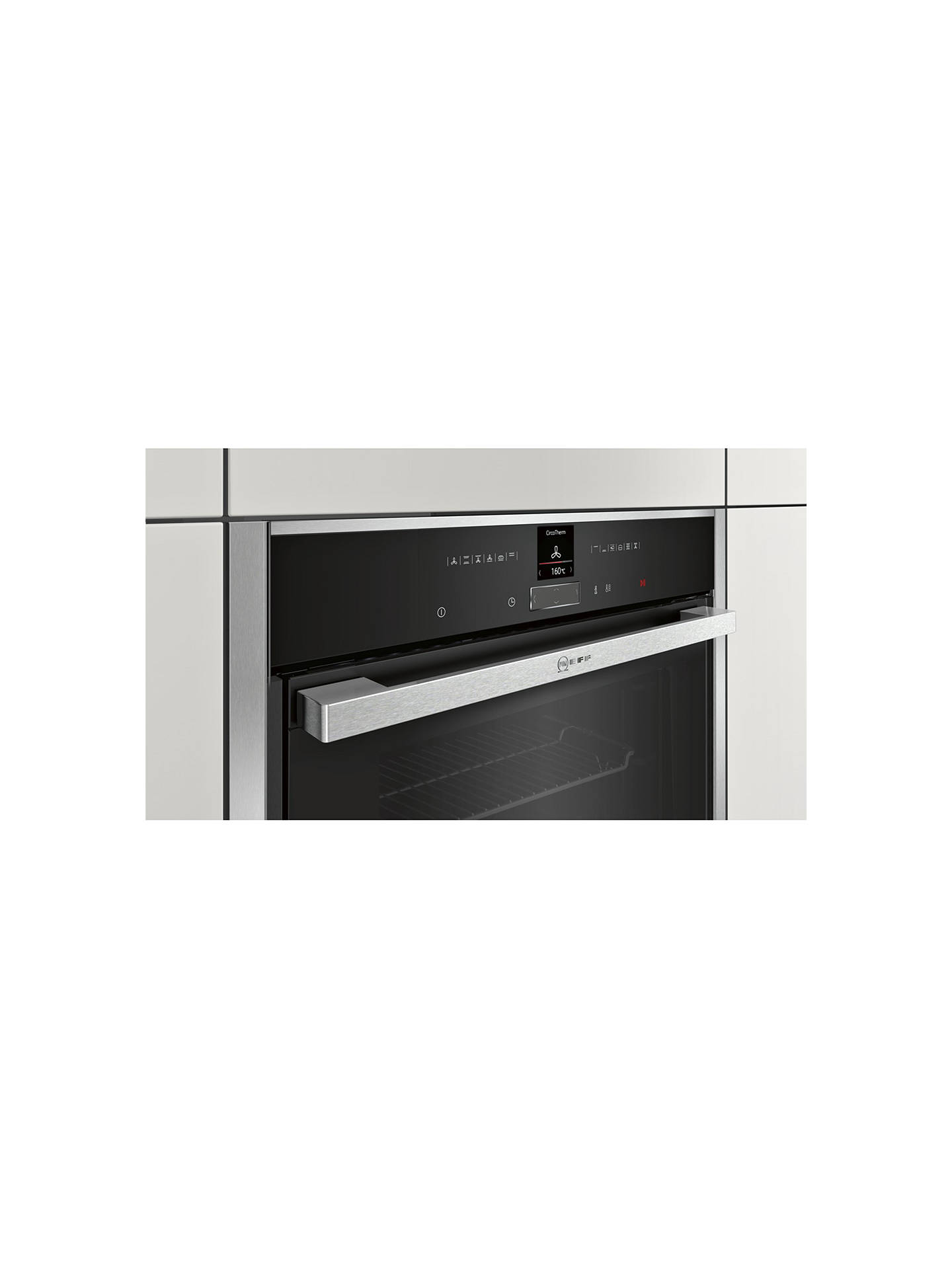 Neff B57cr22n0b Pyrolytic Slide And Hide Single Electric Oven Vehicle Supply Equipment On Without Hard Wiring Buyneff Stainless Steel Online At Johnlewis