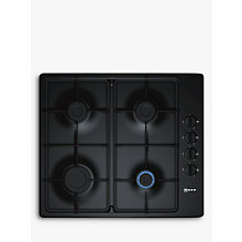 Buy Neff T26BR46S0 Gas Hob, Cast Iron Look Online at johnlewis.com