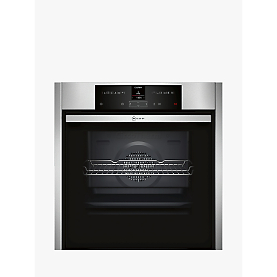 Neff B45CR32N0B 2.5 Display Slide and Hide Single Oven, Stainless Steel
