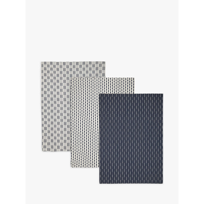 John Lewis Butchers Stripe Tea Towel, Set Of 3 by John Lewis