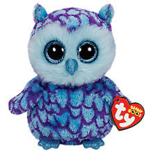 Buy Ty Beanie Boo Oscar Owl Soft Toy, 16cm Online at johnlewis.com