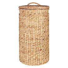 Buy John Lewis Water Hyacinth Round Laundry Basket Online at johnlewis.com