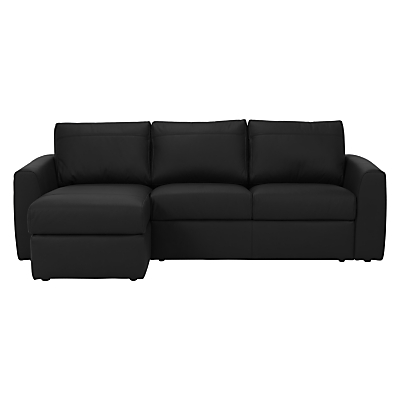 House by John Lewis Finlay II LHF/RHF Chaise End Leather Sofa