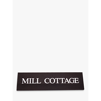 The House Nameplate Company Personalised Granite House Sign, 1 Line, W10 x H35.5 x D1cm