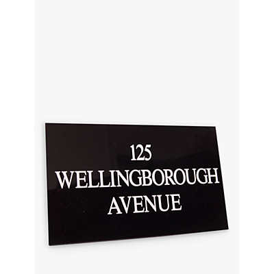 The House Nameplate Company Personalised Granite House Sign, 3 Line, Small, W30.5 x H20 x D1cm