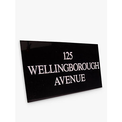 The House Nameplate Company Personalised Granite House Sign, 3 Line, Large, W40.5 x H25.5 x D2.5cm
