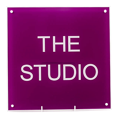 The House Nameplate Company Personalised Acrylic Square House Sign, W30 x H30cm