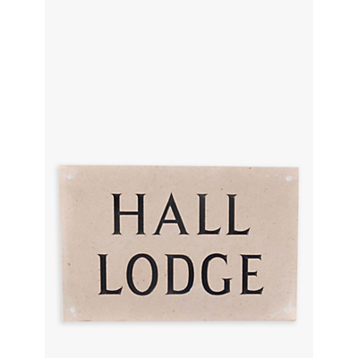 The House Nameplate Company Personalised Portland Stone House Sign, 2 Line, W30.5 x H20cm x D2.5cm
