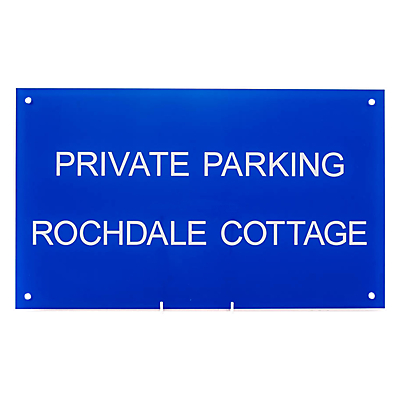 The House Nameplate Company Personalised Acrylic Rectangular House Sign, Small, W50 x H30cm