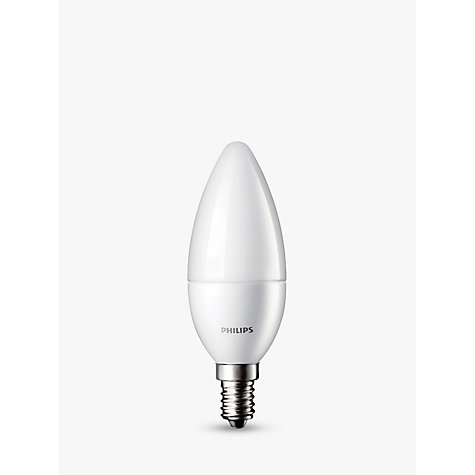 Buy Philips 5.5W SES LED Candle Light Bulb, Frosted Online at johnlewis.com