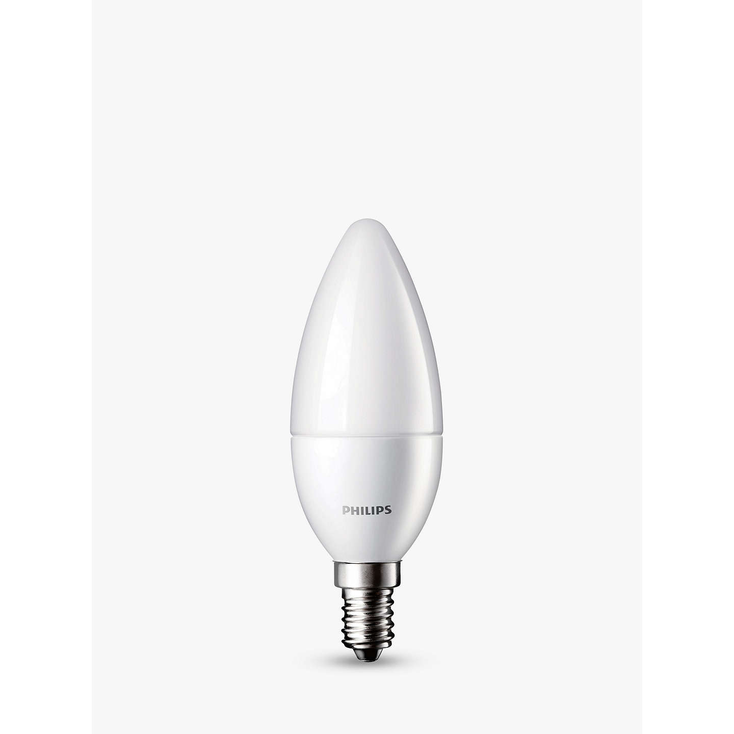 BuyPhilips 5.5W SES LED Candle Light Bulb, Frosted Online at johnlewis.com