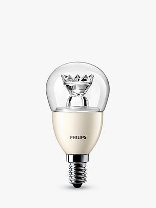 Buy Philips 6W LED SES Golfball Lightbulb, Clear Online at johnlewis.com