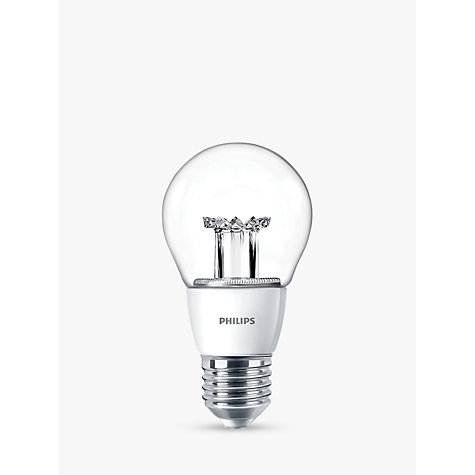 Buy Philips 6W ES LED Classic Dimmable Light Bulb, Clear Online at johnlewis.com