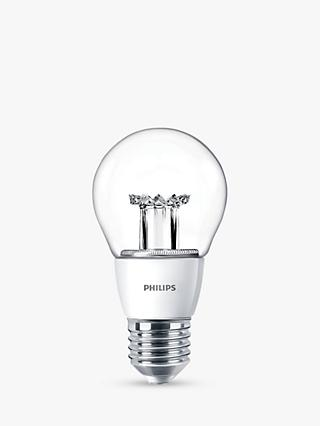 Philips 6W ES LED Classic Dimmable Light Bulb, Clear