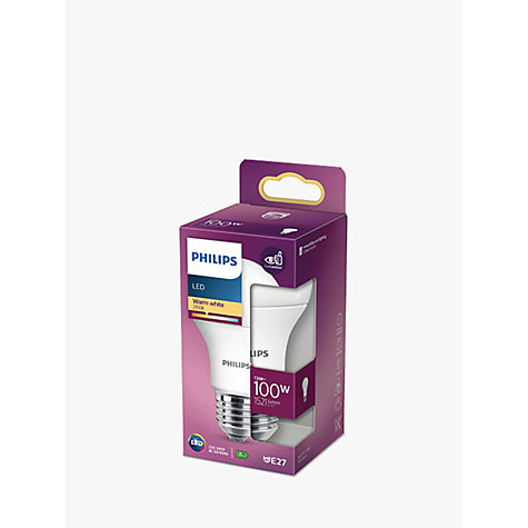 Buy Philips 13W ES LED Classic Bulb, Frosted Online at johnlewis.com