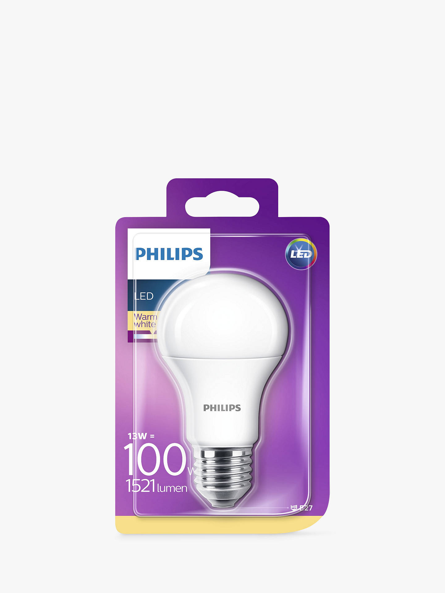 Buy Philips 13.5W ES LED Classic Bulb, Frosted Online at johnlewis.com