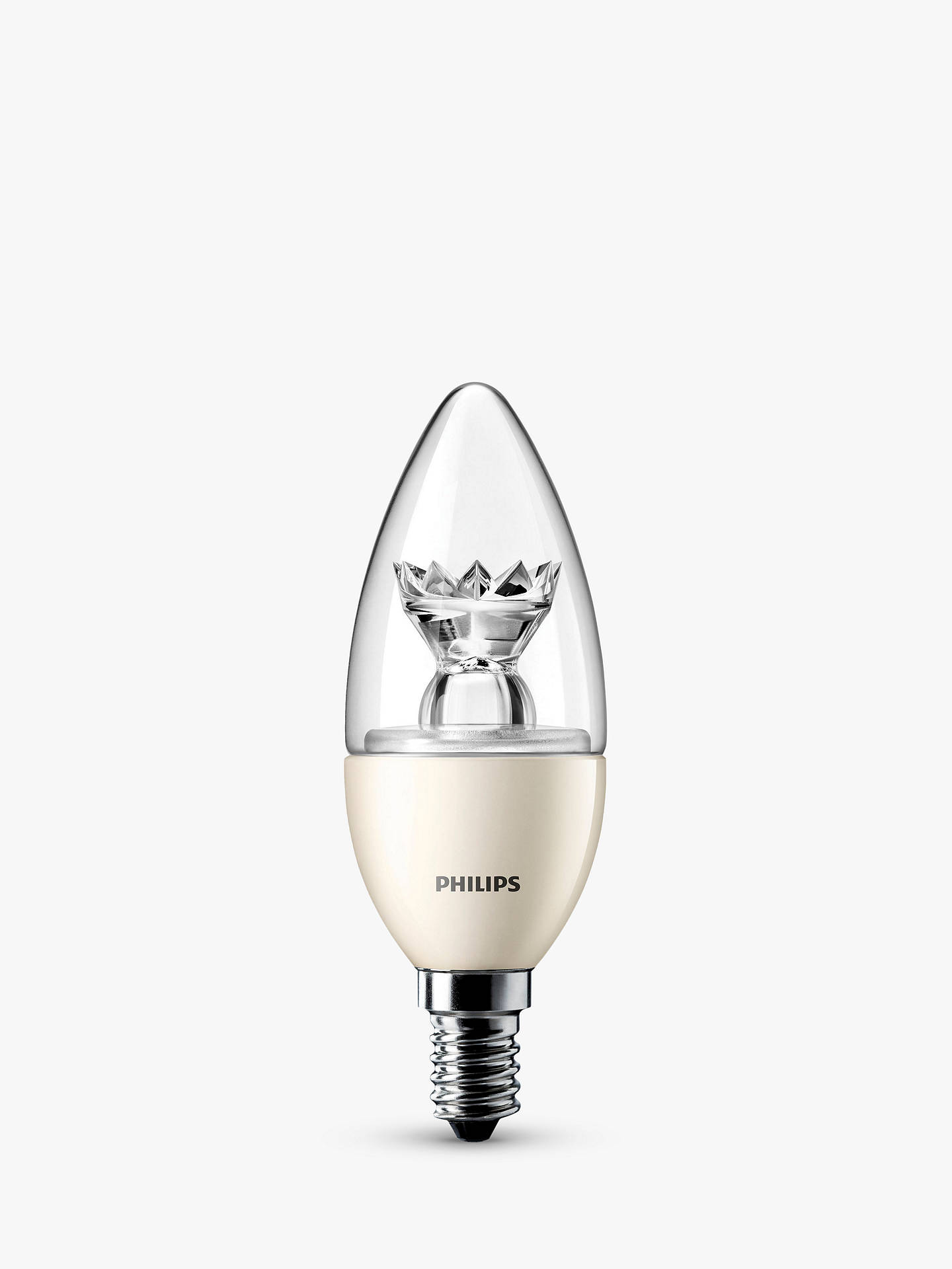 BuyPhilips 6W SES Candle Light Bulb, Clear Online at johnlewis.com