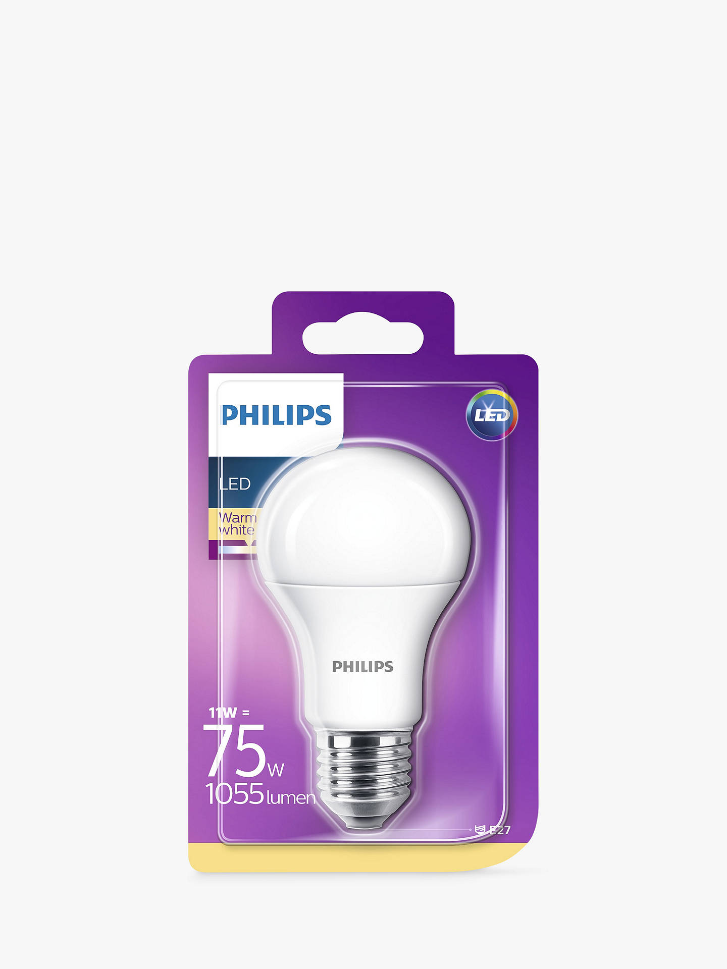 Buy Philips 11W ES LED Classic Light Bulb, Frosted Online at johnlewis.com