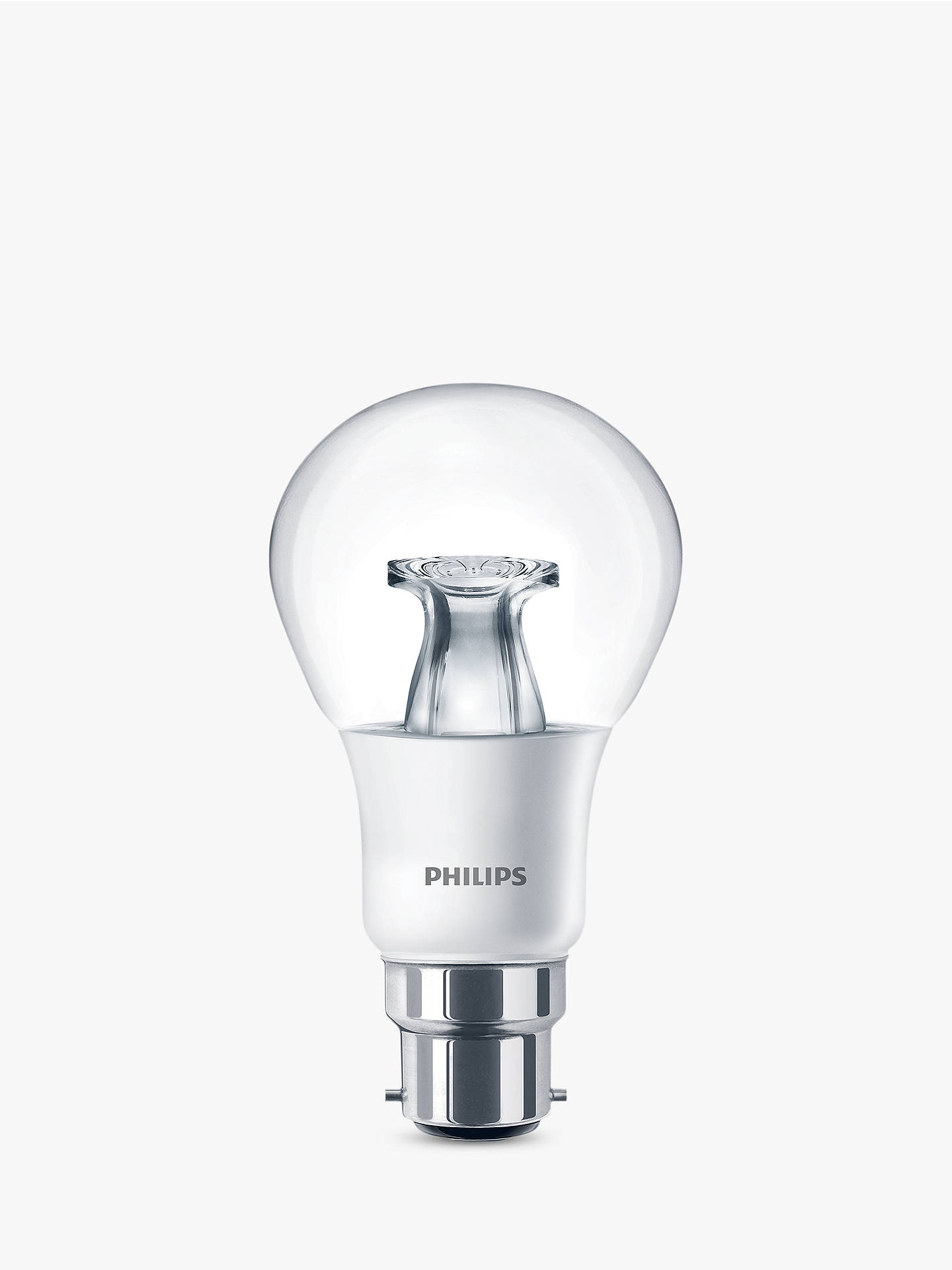 Buy Philips 6W BC LED Classic Dimmable Bulb, Clear Online at johnlewis.com