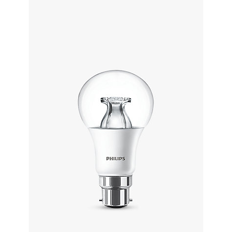 Buy Philips 9W BC LED Classic Dimmable Bulb, Clear Online at johnlewis.com