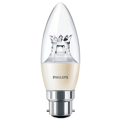 Buy Philips 6W BC LED Candle Bulb Online at johnlewis.com