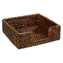 Buy John Lewis Rattan Napkin Holder Online at johnlewis.com