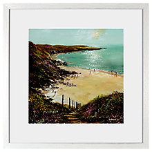Buy Anthony Waller - White Sand Bay, 48 x 48cm Online at johnlewis.com