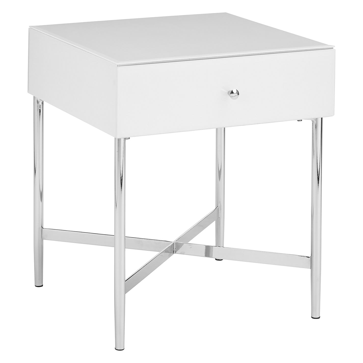 buy john lewis alexia 1 drawer bedside table online at