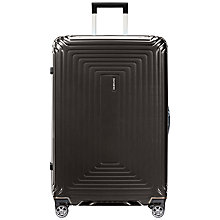 Buy Samsonite Neopulse 4-Wheel 69cm Medium Suitcase, Metallic Black Online at johnlewis.com
