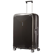 Buy Samsonite Neopulse 75cm Spinner 4-Wheel Large Suitcase, Metallic Black Online at johnlewis.com